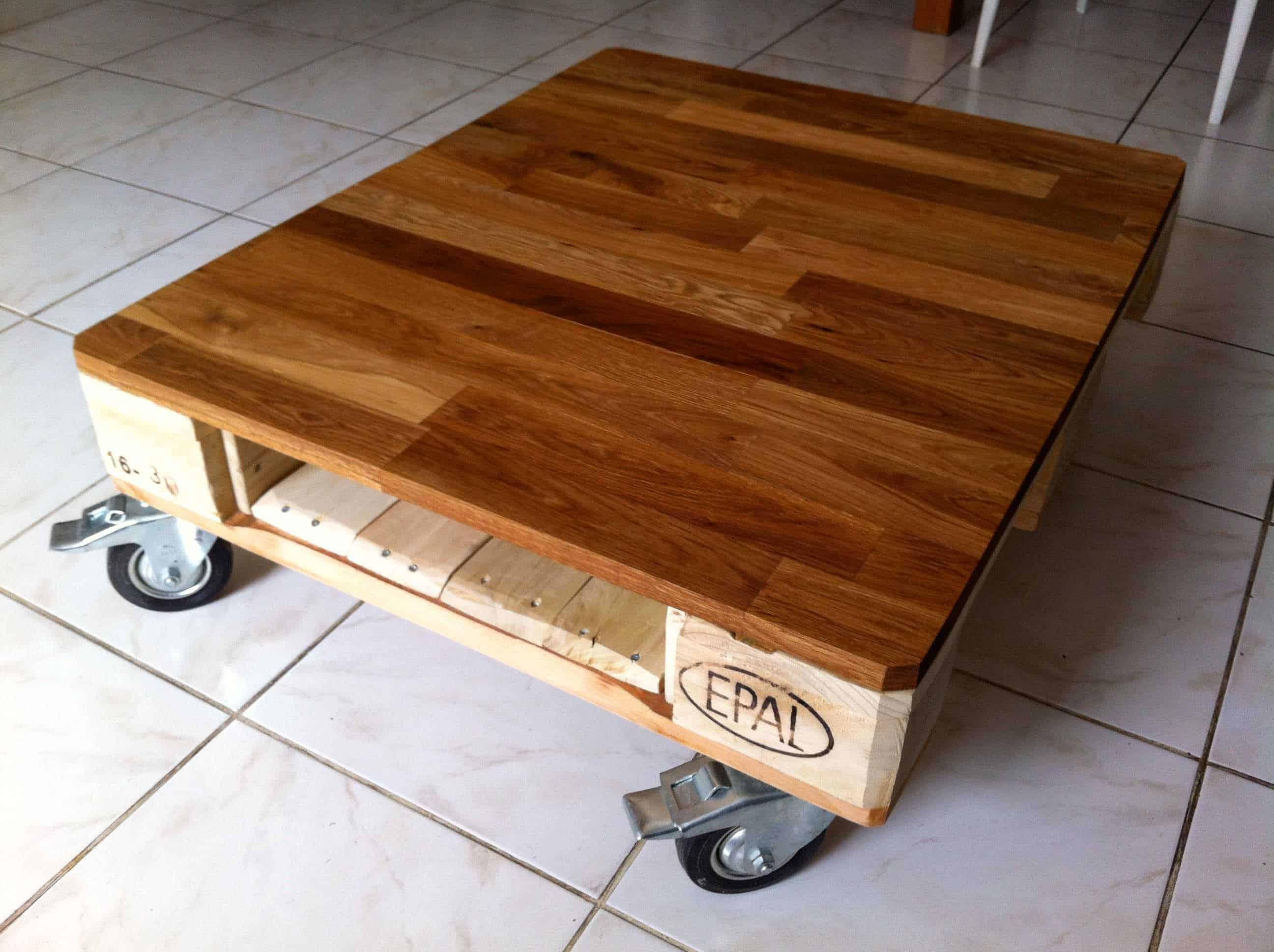 Img 9599 1001 pallets - Fabriquer table basse originale ...