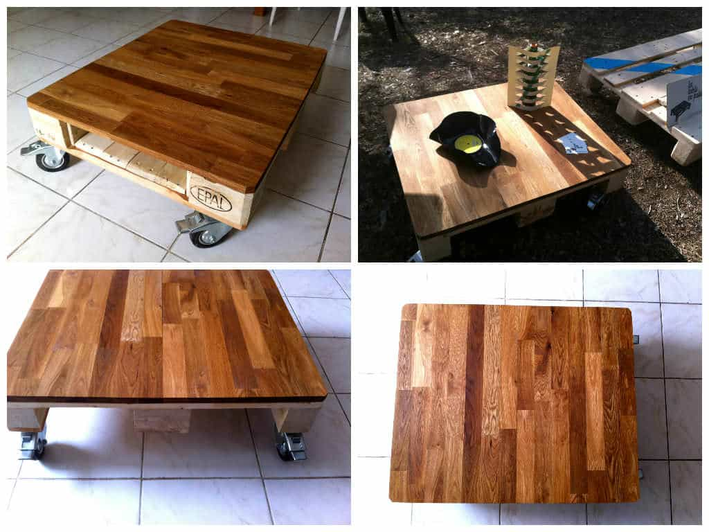 la mignonne table basse demi palette qui va bien small pallet coffee table 1001 pallets. Black Bedroom Furniture Sets. Home Design Ideas