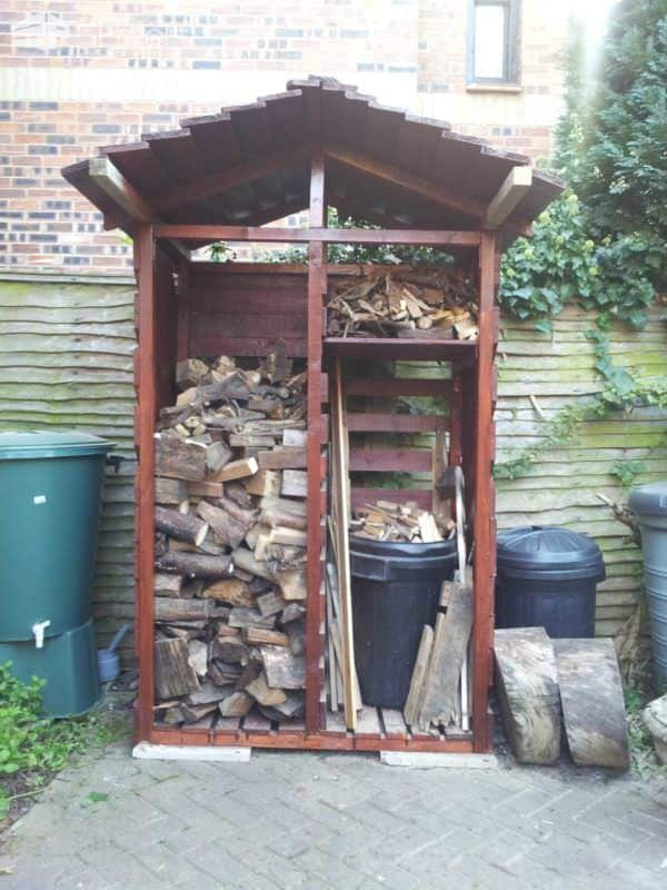 Log Store Made From Six Pallets Pallet Sheds, Pallet Cabins, Pallet Huts & Pallet Playhouses
