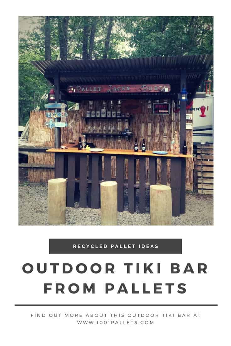 Outdoor Tiki Bar Made With Repurposed Pallets 1001 Pallets