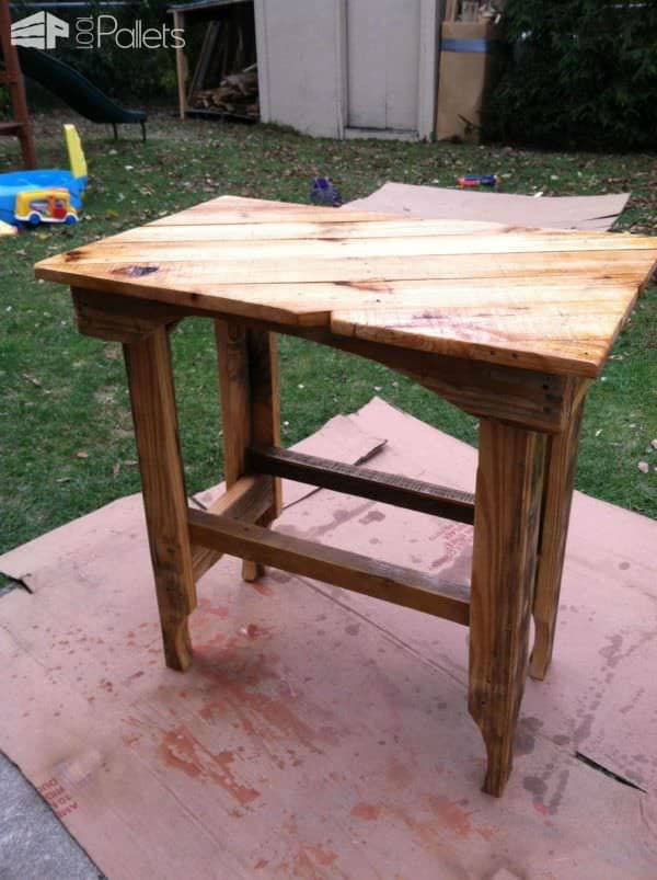 Pallet End Table Pallet Desks & Pallet Tables
