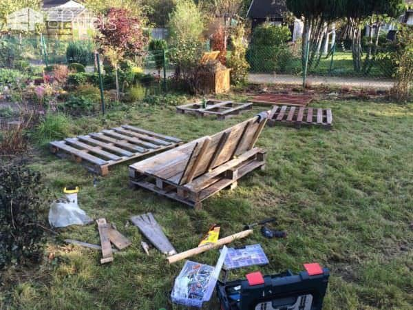Pallet Garden Seat Couch Pallet Benches, Pallet Chairs & Stools