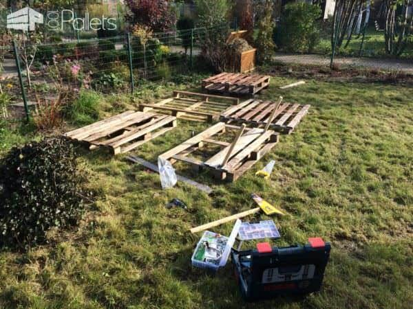 Pallet Garden Seat Couch Lounges & Garden Sets Pallet Benches, Pallet Chairs & Stools