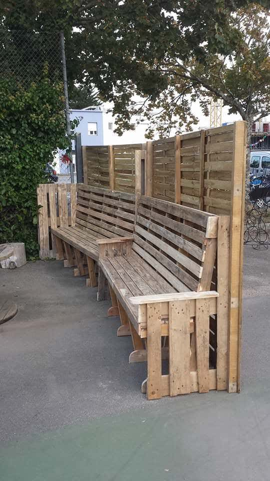 Paravent En Palettes / Pallets Screen Lounges & Garden Sets Pallet Benches, Pallet Chairs & Stools
