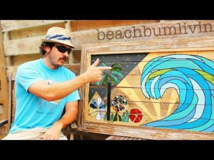 Recycled Pallet Wood Art