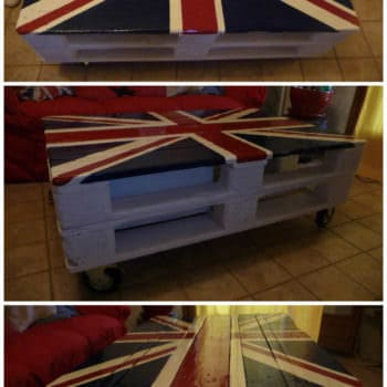 Table De Salon Union Jack / Union Jack Pallet Coffee Table