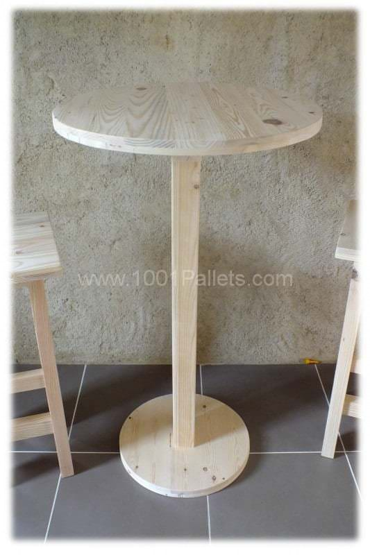 Table Haute Et Ses 2 Tabourets Pallet Bar Table Stools