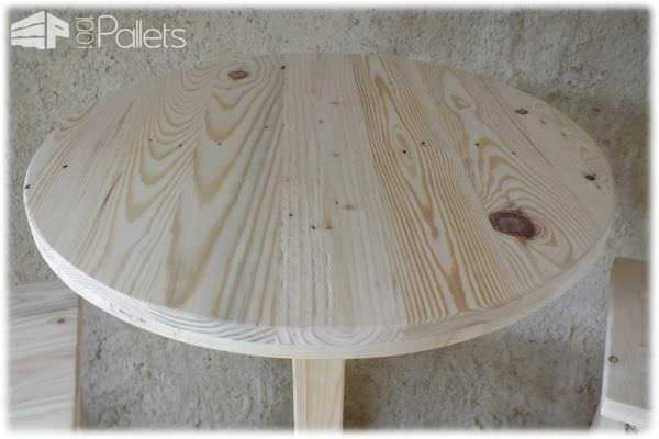 Table Haute Et Ses 2 Tabourets / Pallet Bar Table & Stools DIY Pallet Bars
