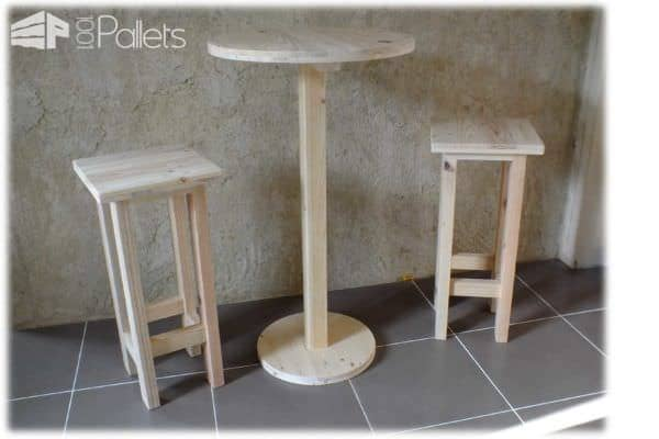 Emejing table de jardin pliante en palette ideas amazing for Table haute palette