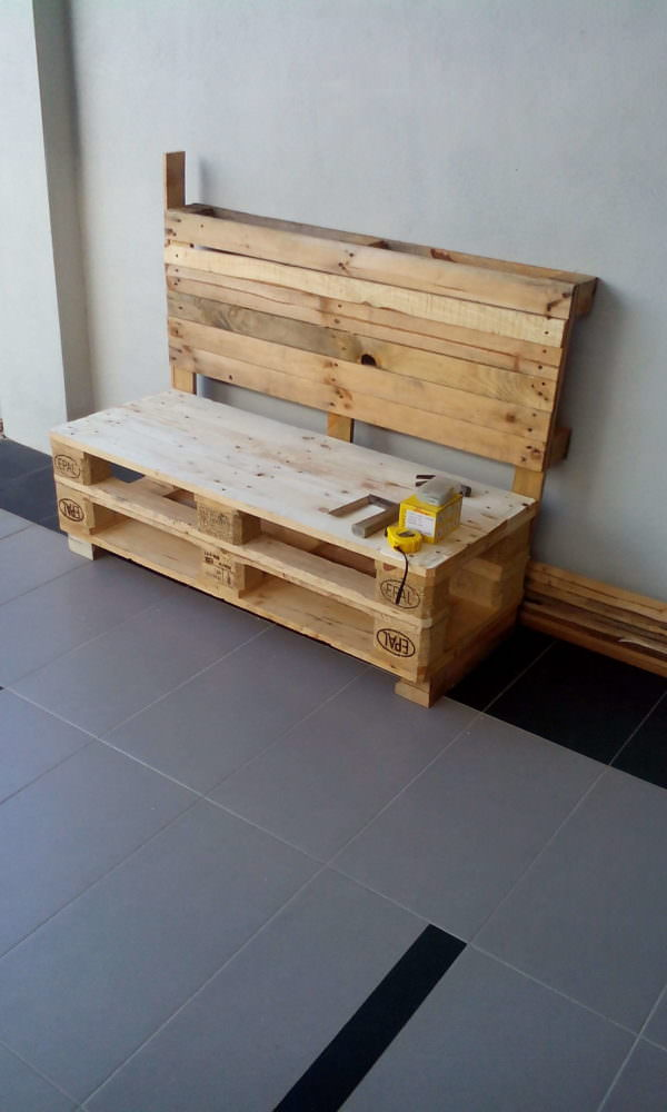 Two Pallets Bench Pallet Benches, Pallet Chairs & Stools