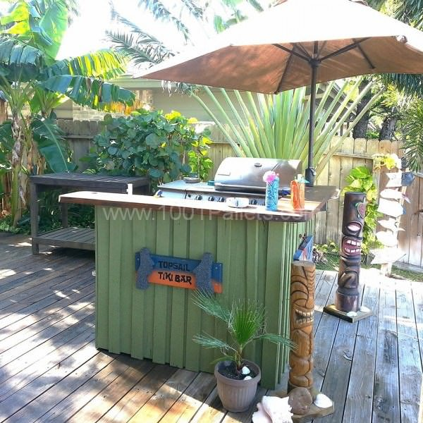 Tiki Bar DIY Pallet Bars Lounges & Garden Sets