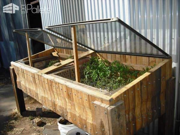 Pallet Hot Bed Pallet Planters & Compost Bins