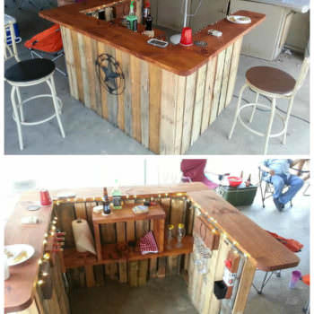 Backyard Western Themed Bar