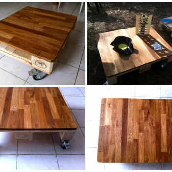 La Mignonne Table Basse Demi-Palette Qui Va Bien / Small Pallet Coffee Table