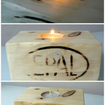 Bougeoirs En Dés De Palette / Candle Holder From Pallet Blocks
