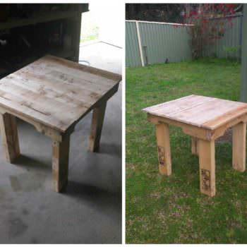 Dual Purpose Seat Table 1001 Pallets