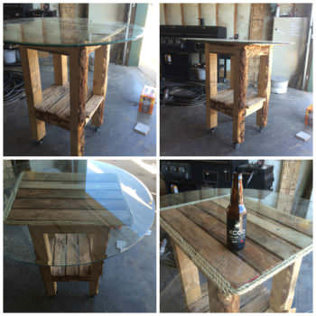 Bar Table Made Out Of Recycled Pallets