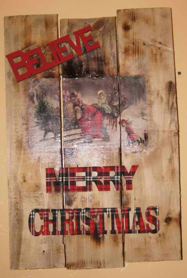 Christmas Wall Art With Pallet 1001 Pallets