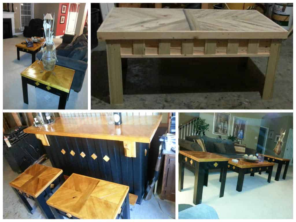Coffee table end tables stool made from pallets 1001 pallets geotapseo Image collections