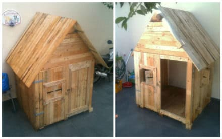 Kids Playhouse From Repurposed Pallets