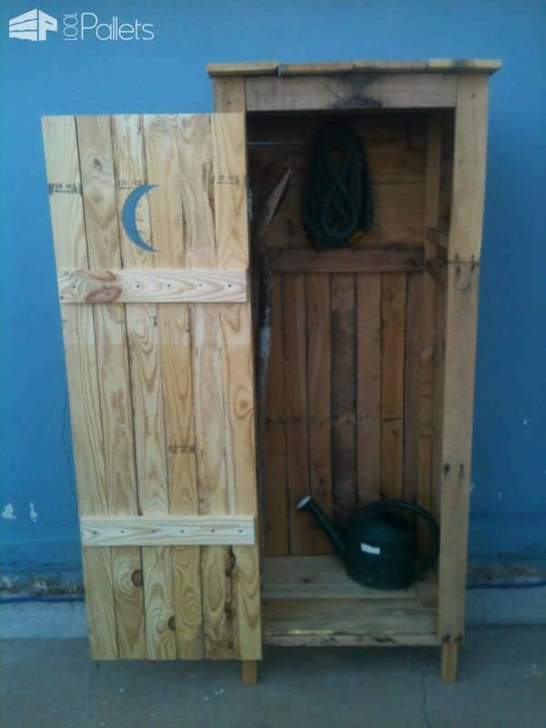 Mini Storage Shed - Outhouse Look Pallet Cabinets & Pallet Wardrobes