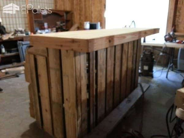 Pallet Bar With Wine Racks Glass Holders Amp Lights Inside