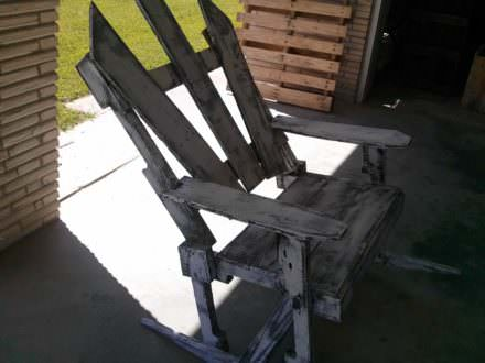 Antique Pallet Rocking Chair