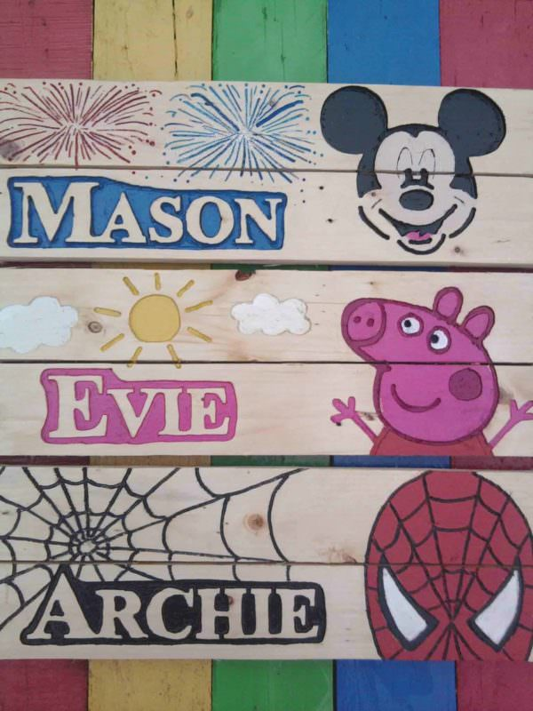Personalised Bedroom Sign Fun Pallet Crafts for KidsPallet Wall Decor & Pallet Painting