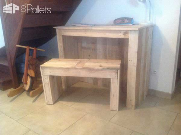 Réalisations En Palettes / Various Pallet Works Lounges & Garden Sets Pallet Benches, Pallet Chairs & Stools Pallet Sheds, Cabins, Huts & Playhouses