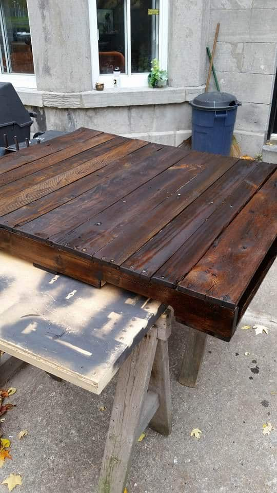 Staining-the-top