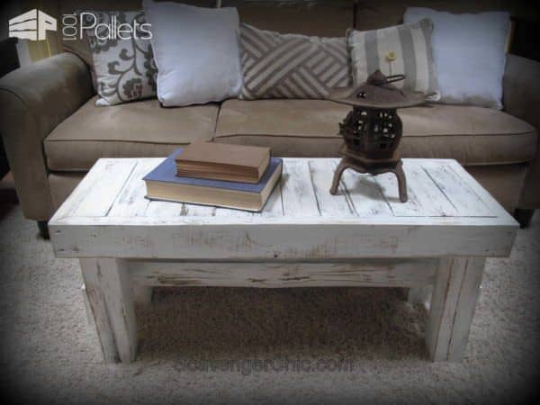 Rustic Bench / Coffee Table Pallet Benches, Pallet Chairs & Stools
