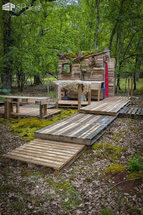 Salle De Bain Forestière / Forest Pallet Bathroom Lounges & Garden Sets