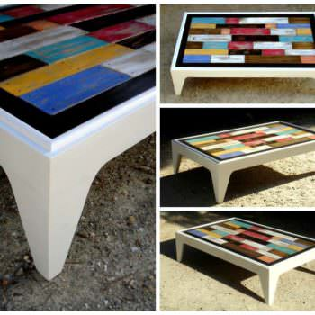 My first pallet project is a coffee table 1001 pallets - Table basse palette roulettes ...