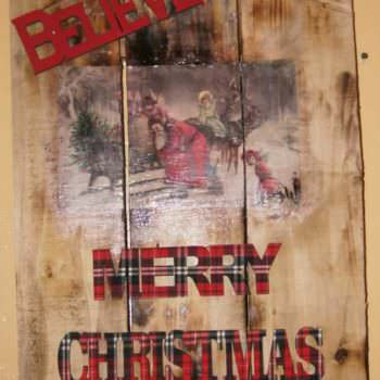 Christmas Wall Art With Pallet