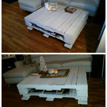 Reclaimed (wood) pallet coffee table (Store display)