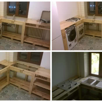 Pallets As Kitchen Furniture