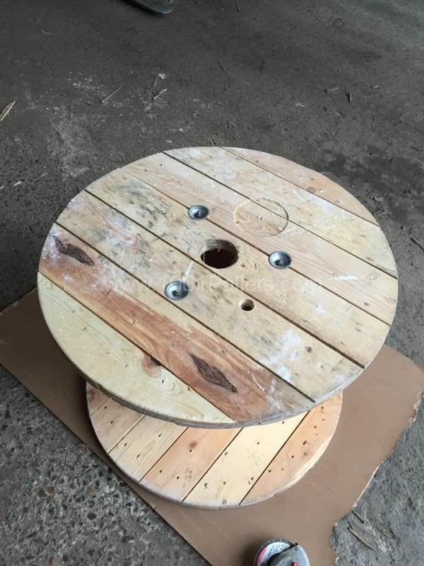 Table basse touret reel coffee table 1001 pallets Touret bois table basse