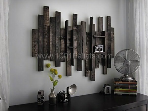 Wall Decor Idea From Pallet Wood Pallet Wall Decor Pallet Painting