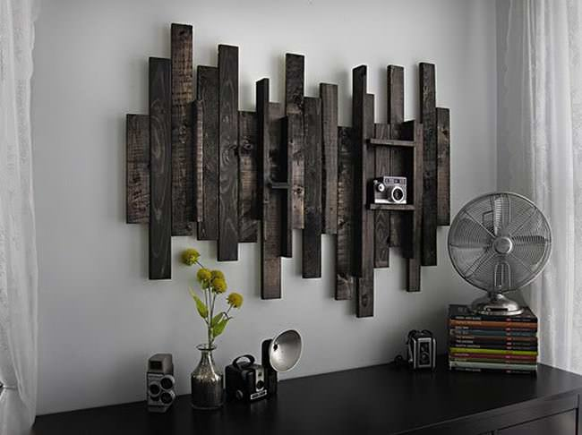 Wall Decor Idea From Pallet Wood 1001 Pallets