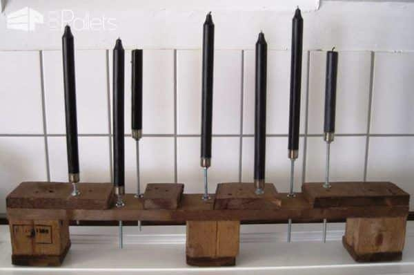 Wooden Pallet Candlesticks Pallet Candle Holders