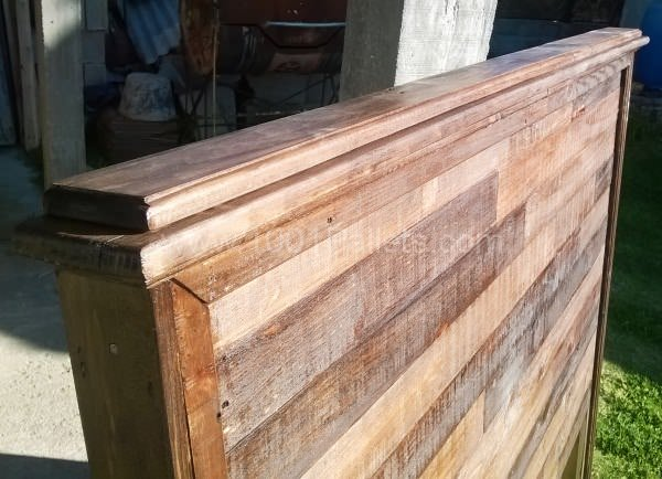 Pallet Bed Headboard DIY Pallet Bed Headboard & Frame
