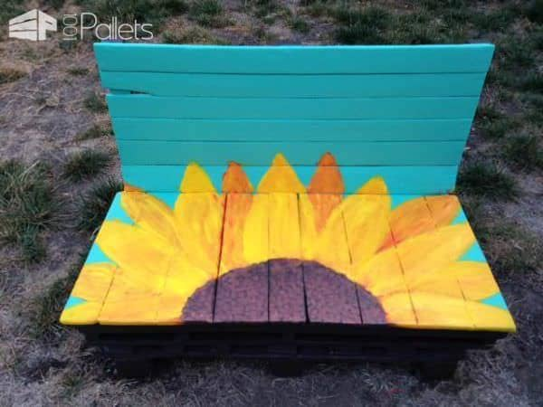 Sunflower Bench Pallet Benches, Pallet Chairs & Pallet Stools