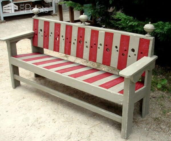 banc de jardin barock large garden pallet bench 1001 pallets. Black Bedroom Furniture Sets. Home Design Ideas