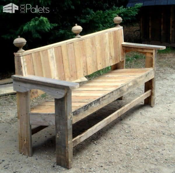 banc de jardin barock large garden pallet bench 1001. Black Bedroom Furniture Sets. Home Design Ideas