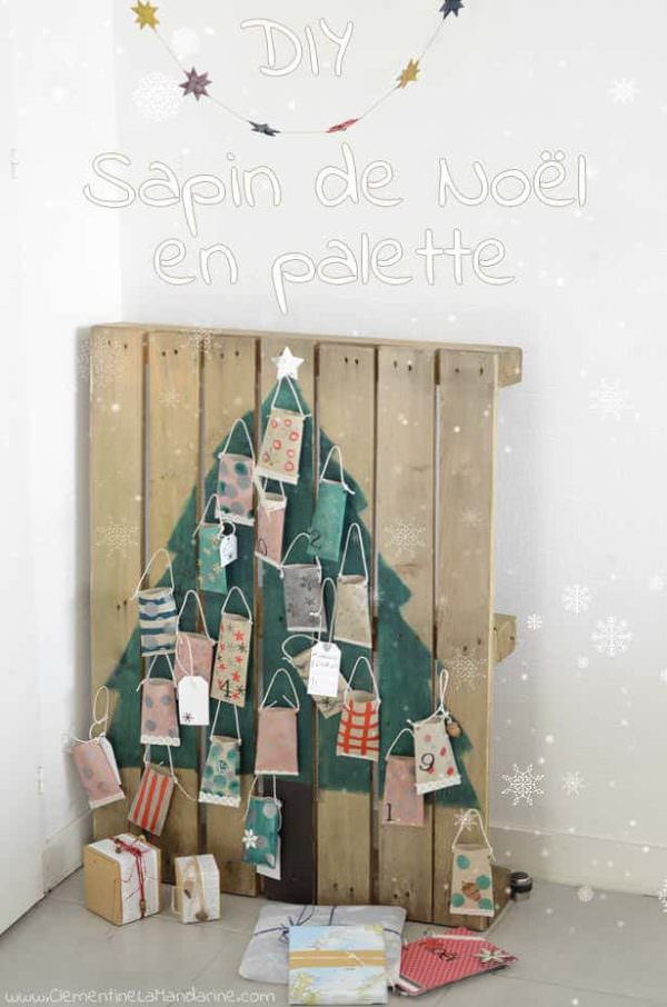 Christmas Tree With One Pallet Pallet Home Accessories