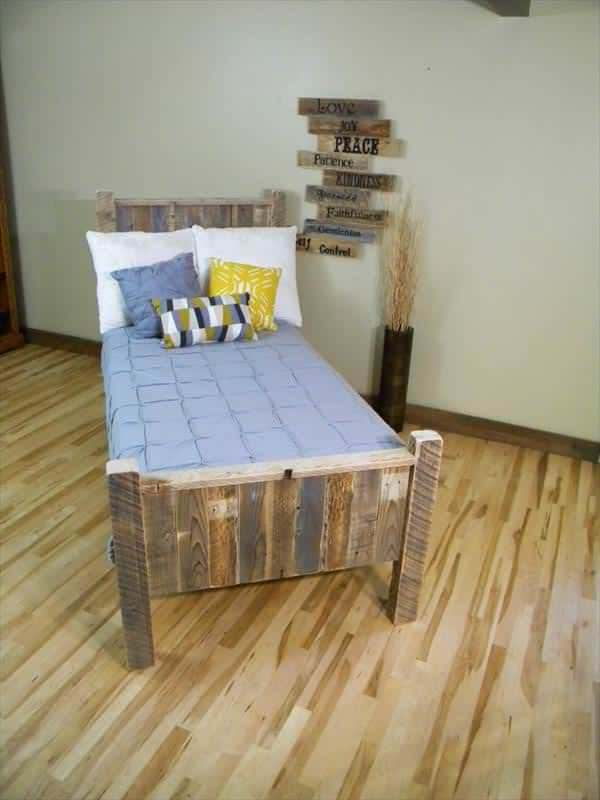 Elegant Pallet Bed DIY Pallet Bedroom - Pallet Bed Frames & Pallet Headboards