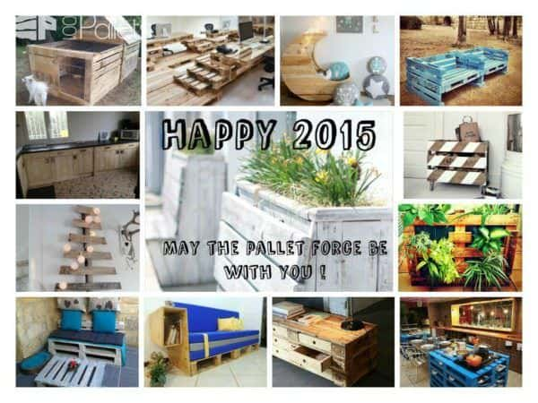 Happy New Year 2015 ! Pallet Home Accessories