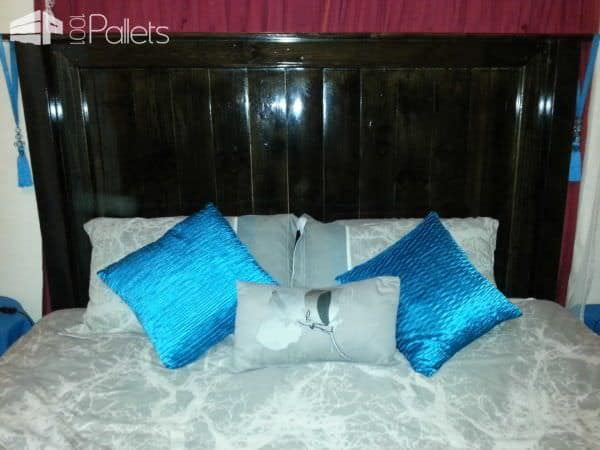 King Size Pallet Headboard DIY Pallet Bedroom - Pallet Bed Frames & Pallet Headboards