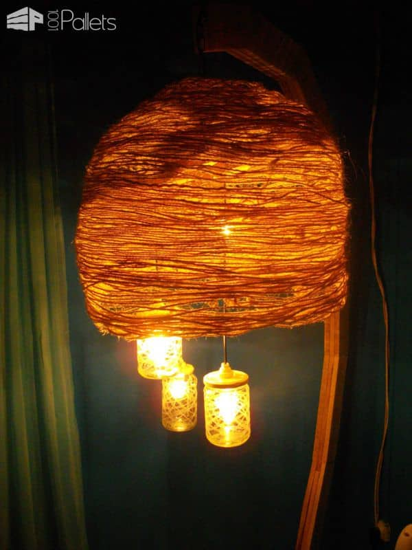 Luminaire Sur Pied / Pallet Floor Lamp Pallet Lamps, Pallet Lights & Pallet Lighting