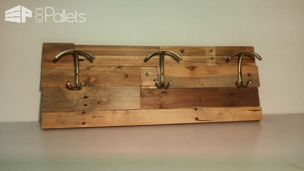 Making Coat Racks with Pallet Wood Pallet Shelves & Pallet Coat Hangers